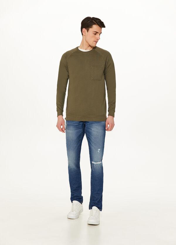 Sweatshirt aus Baumwolle mit Tasche