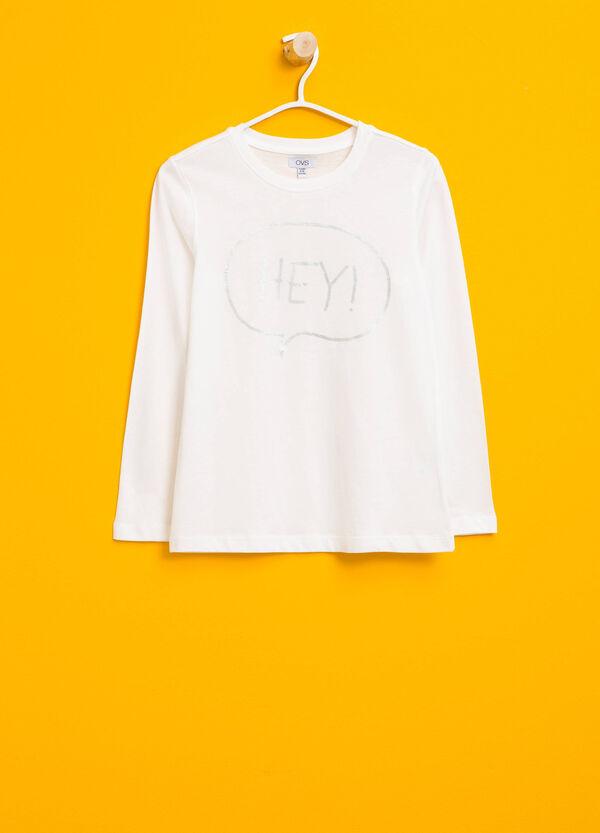 T-Shirt aus Baumwolle glänzender Aufdruck | OVS