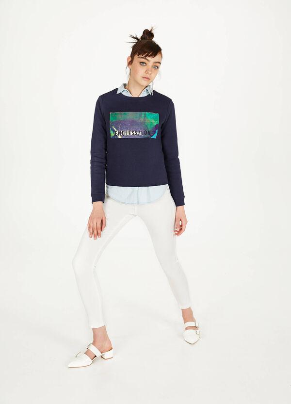 Bedrucktes Sweatshirt aus Baumwoll-Mix