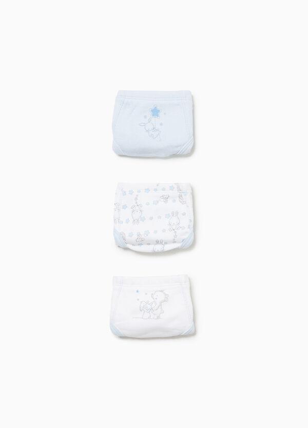 Set drei Slips Baumwolle, Print und Muster