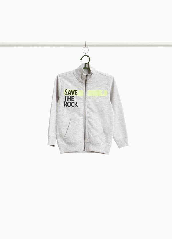 Sweatshirt Baumwollmix Aufdruck Lettering