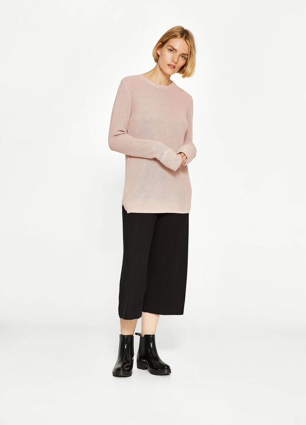 Trikot-Pullover aus Baumwoll-Mix | OVS
