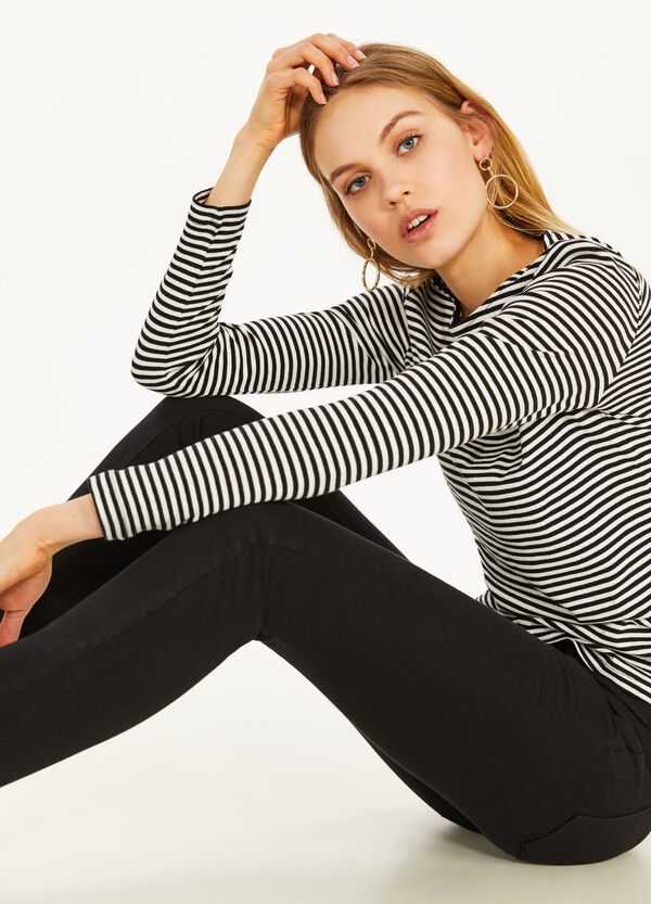 Einfarbige Stretch-Jeans Regular Fit