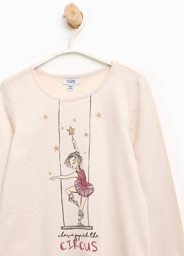 T-Shirt aus Baumwolle Aufdruck Tänzerin   OVS
