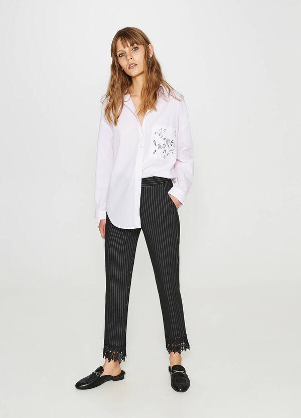 Bluse aus reiner Baumwolle mit Aufdruck | OVS