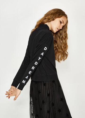 Sweatshirt aus reiner Baumwolle mit Stickerei