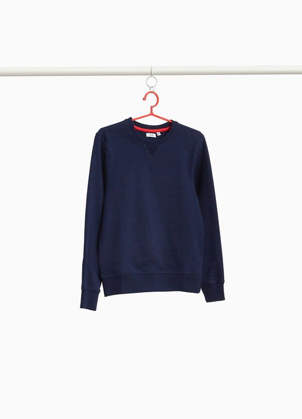 Einfarbiges Sweatshirt aus reiner Baumwolle