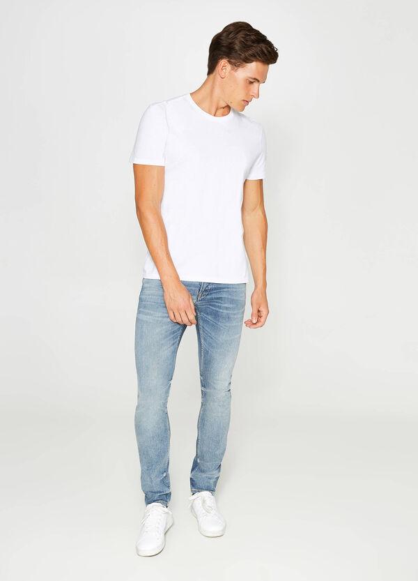 Stretch-Jeans Slim Fit Effekt-Färbung Wiskering | OVS