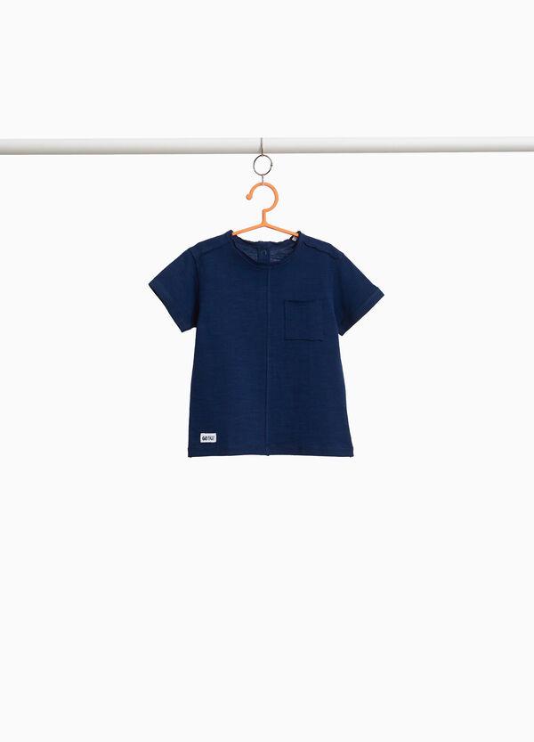 T-Shirt reine Baumwolle mit ungesäumten Kanten