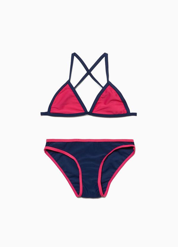 Stretch-Bikini mit Profil mit Wickelpasse