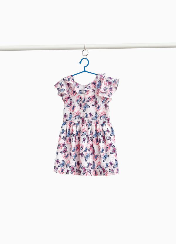 Kleidchen mit Volant Aufdruck Schmetterlinge
