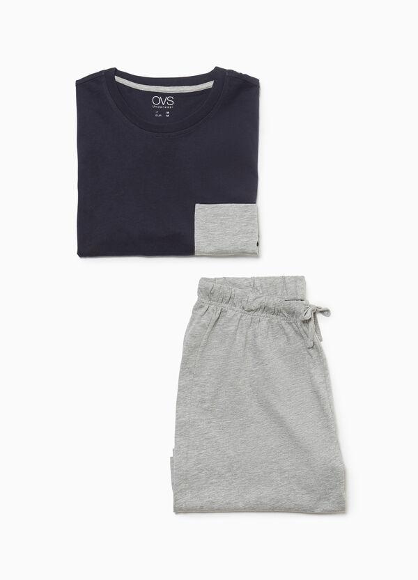 Pyjama Baumwollmix mit Tasche