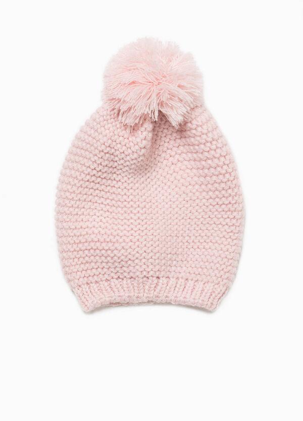Mütze Trikot-Verarbeitung mit Bommel