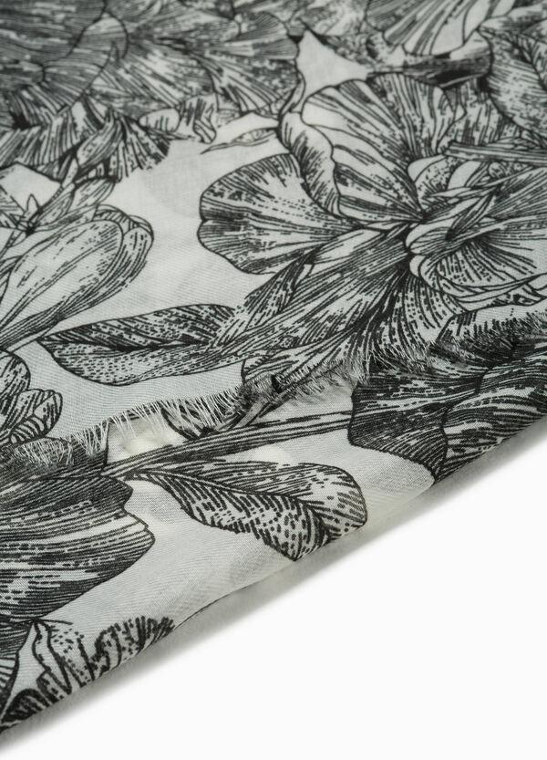 Pashmina floral ausgefranste Ränder | OVS