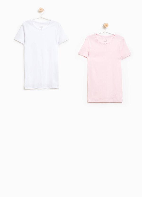 Set zwei T-Shirts Bio-Baumwolle Schleife | OVS