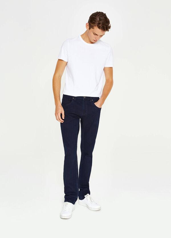 Einfarbige Stretch-Jeans Regular Fit | OVS