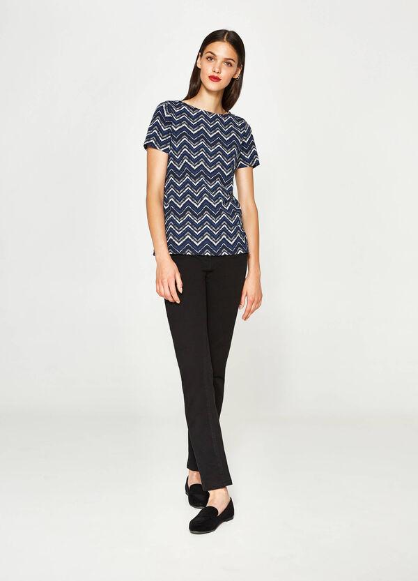 T-Shirt Baumwolle geometrisches Muster   OVS