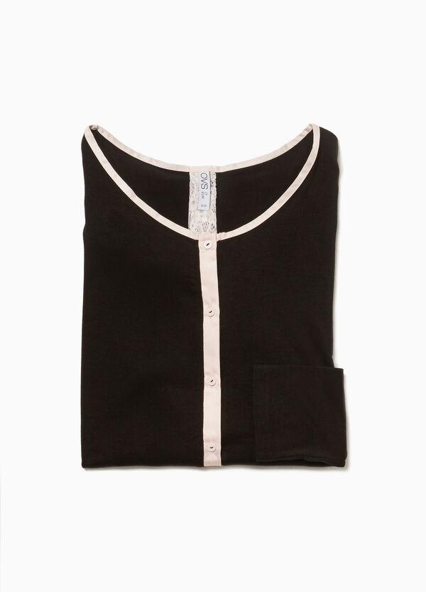 Pyjama-Shirt aus Viskose mit Knöpfen