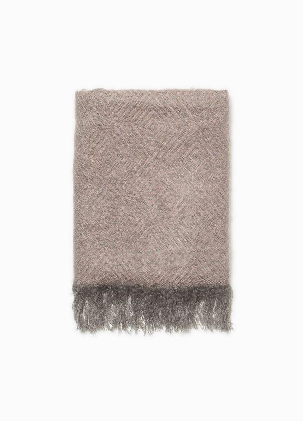 Zweifarbiger Schal mit langen Fransen | OVS