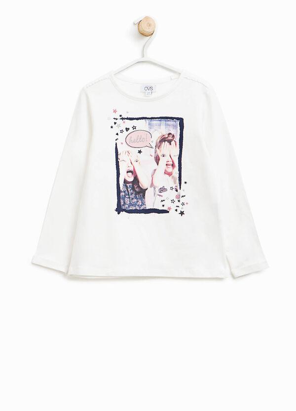 T-Shirt mit Glitter-Aufdruck   OVS
