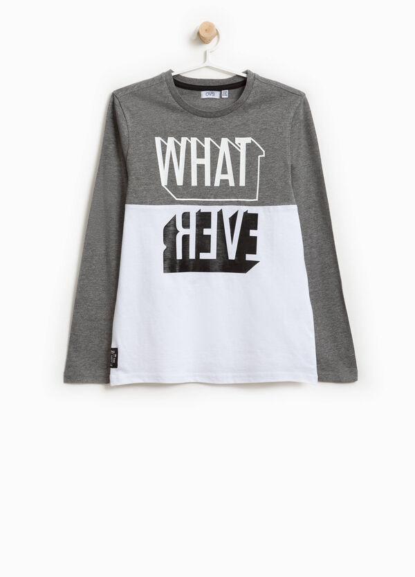 T-Shirt zweifarbig Baumwolle Aufdruck Lettering | OVS