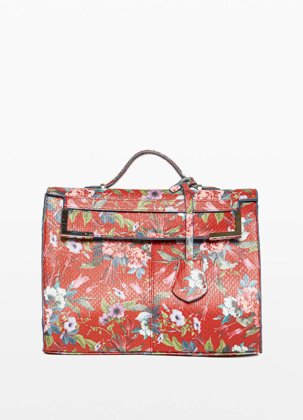 Handtasche floraler Aufdruck