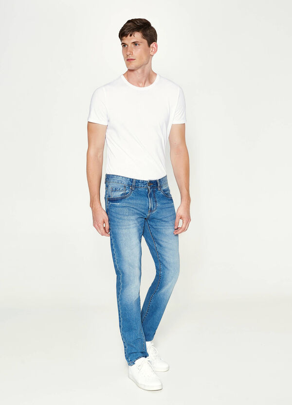 Jeans Straight Fit mit Whiskering | OVS
