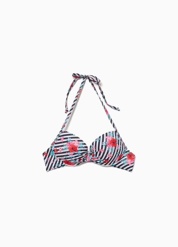 Push-up-Bikini-Oberteil Muster