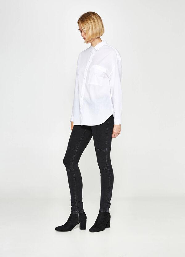 Hemd aus reiner Baumwolle mit Tasche | OVS