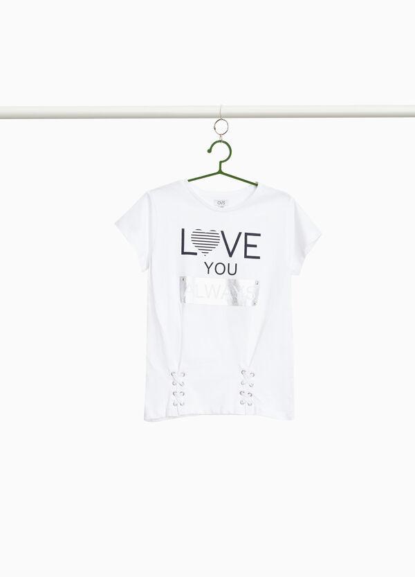 T-Shirt reine Baumwolle Glanzaufdruck