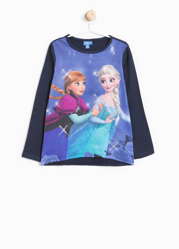 T-Shirt mit Maxi-Aufdruck Eiskönigin und Strass   OVS