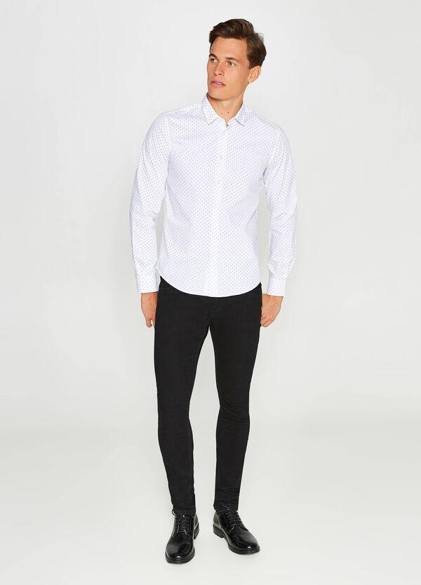 Lässiges Hemd Slim Fit Baumwolle Muster | OVS