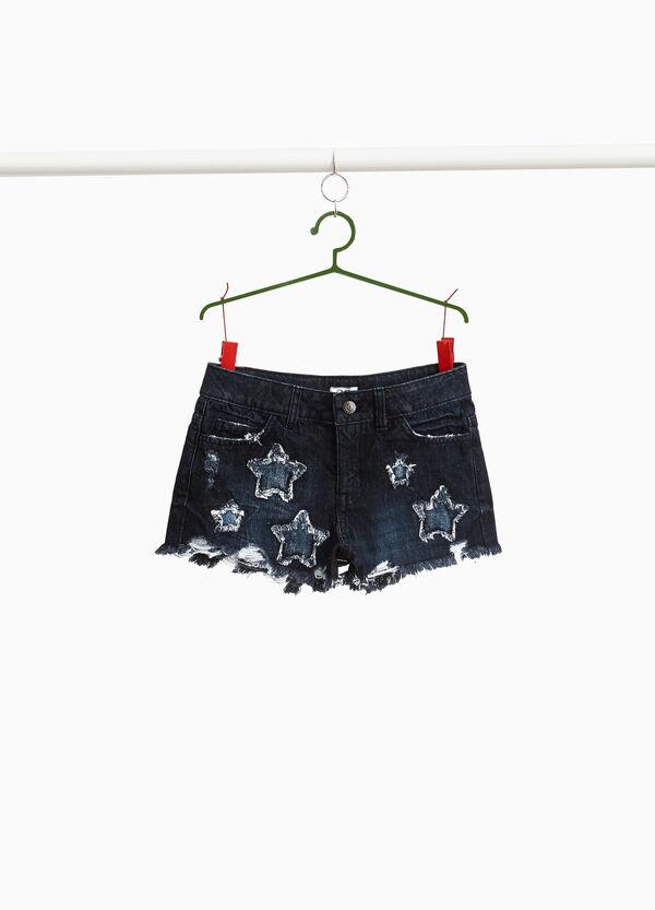 Jeans-Shorts ausgefranst Used-Effekt