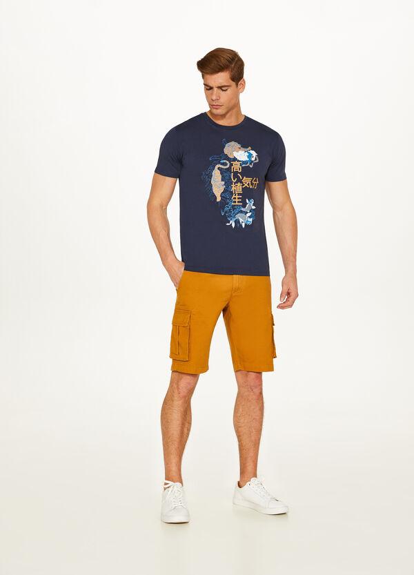 T-Shirt reine Baumwolle japanischer Print