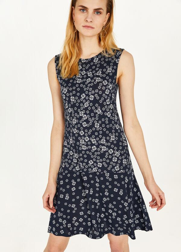Longuette-Kleid aus Viskosestretch