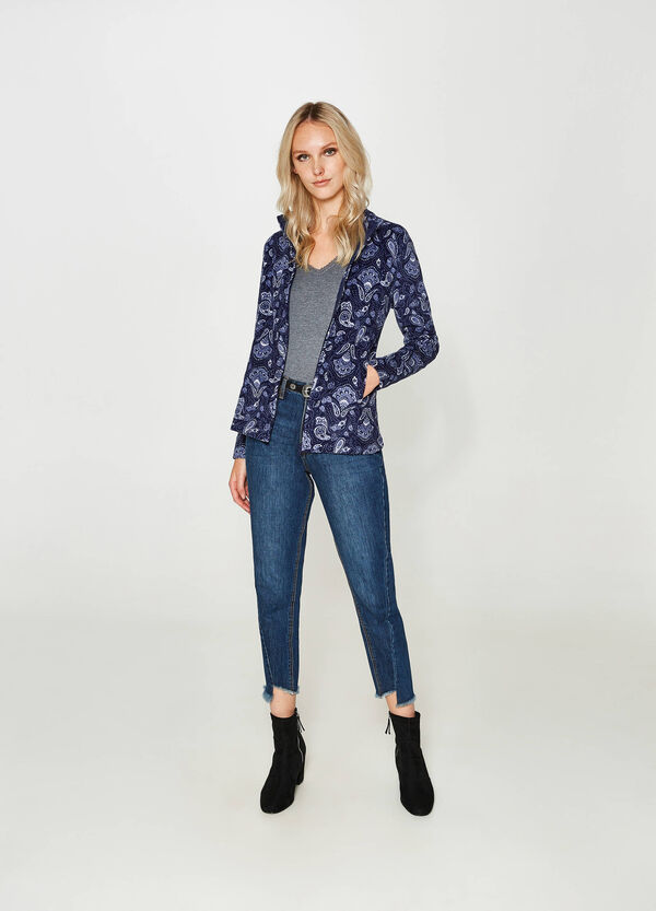 Sweatshirt aus Fleece mit Paisley-Muster | OVS