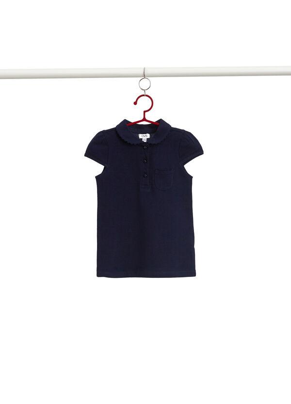 Polo-Shirt Baumwollstretch mit kleiner Tasche