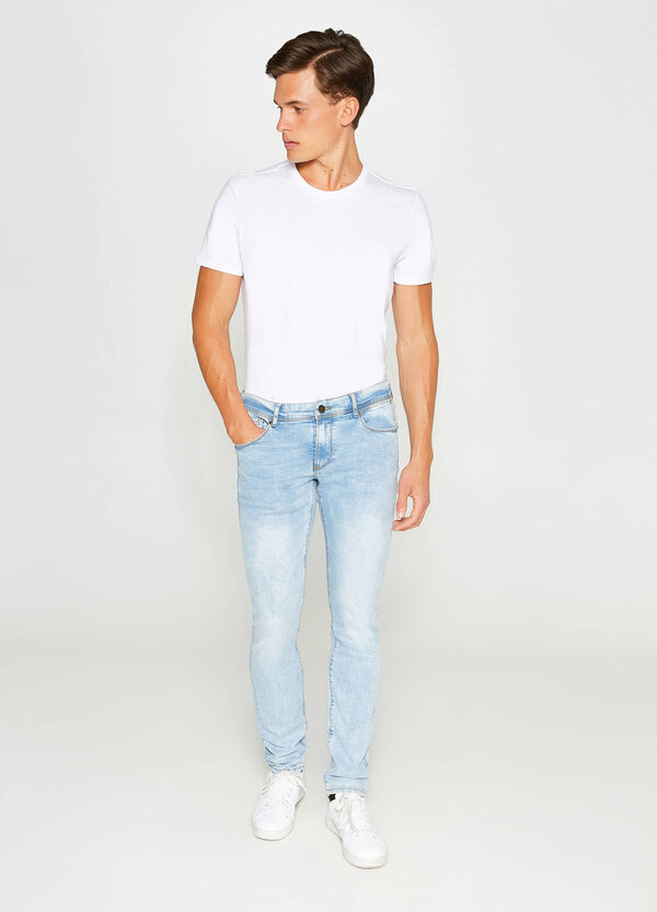Stretch-Jeans Skinny Fit Washed out-Effekt
