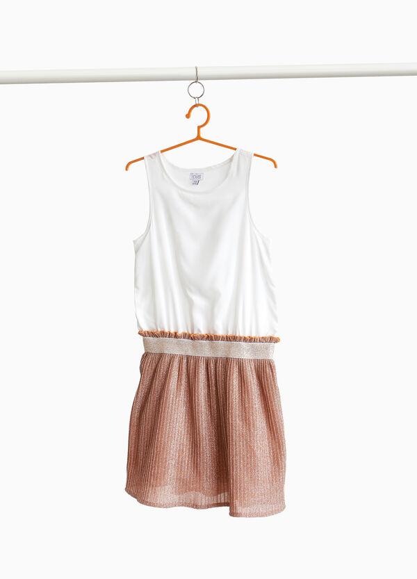 Plissee-Kleidchen zweifarbig mit Glitter