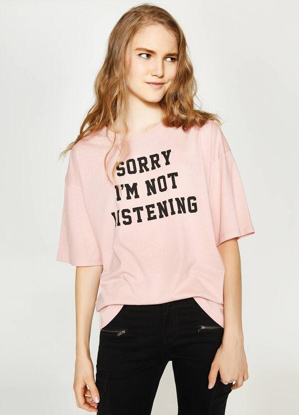 Bedrucktes T-Shirt aus Baumwoll-Slub | OVS