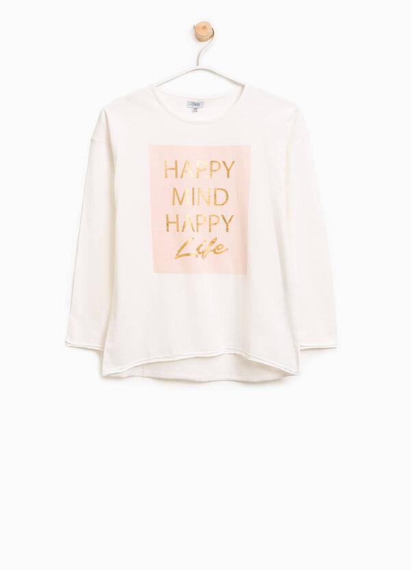 T-Shirt aus Baumwolle mit ungesäumten Kanten | OVS