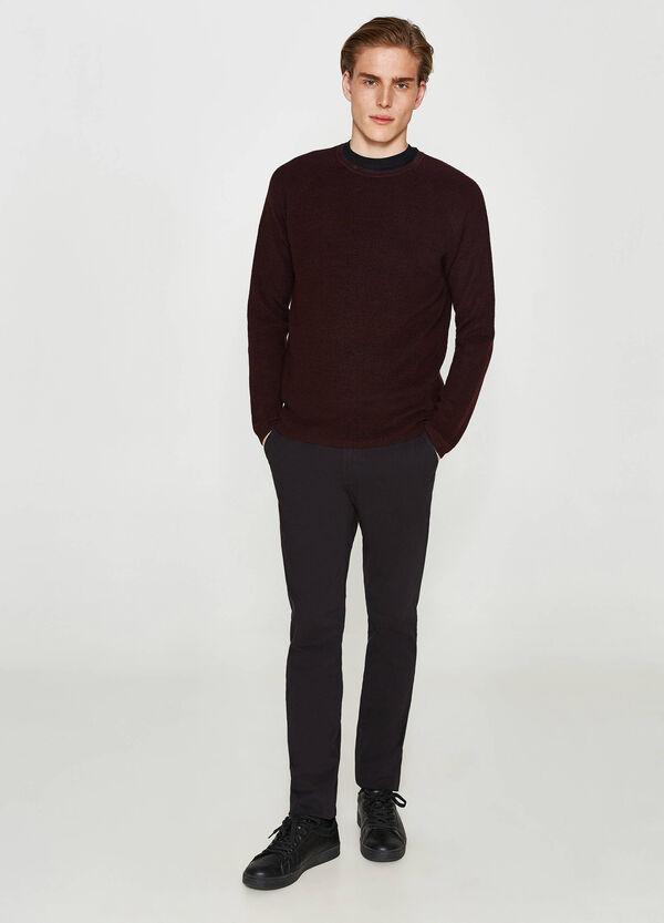Einfarbige Hose reine Baumwolle