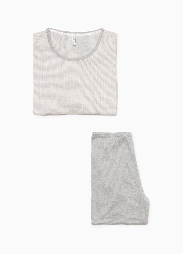 Pyjama reine Viskose kleinkariert