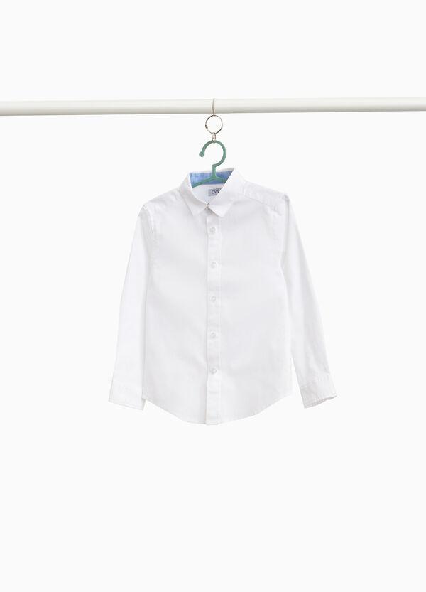 Einfarbiges Hemd reine Baumwolle