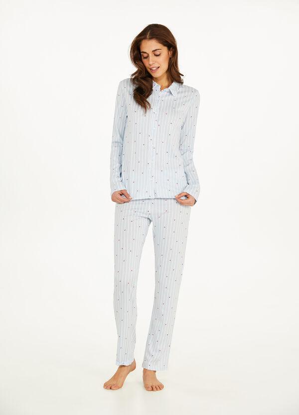 Pyjama Baumwolle und Modal Muster