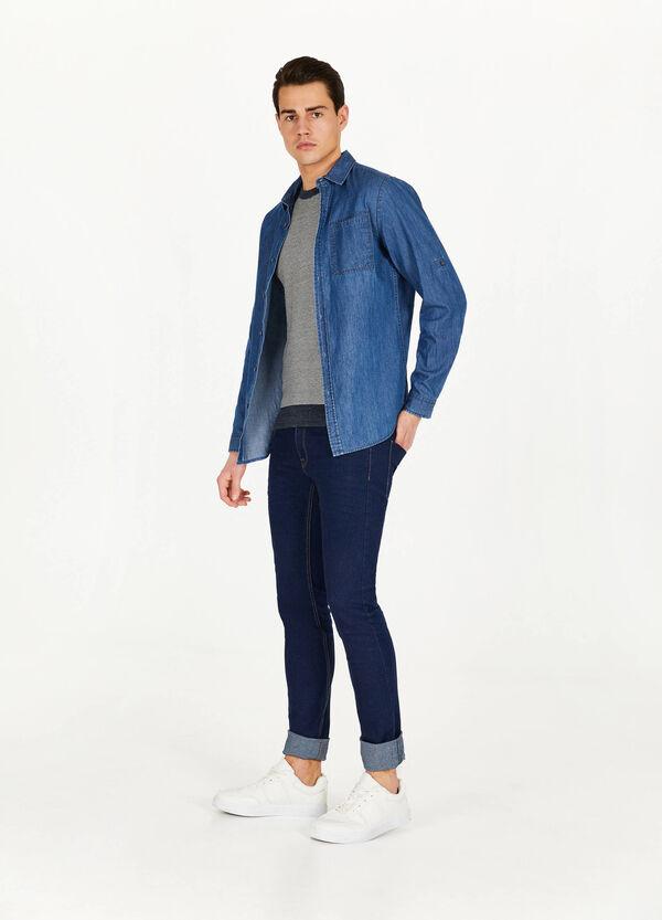 Pullover aus reiner Baumwolle mit Streifenmuster