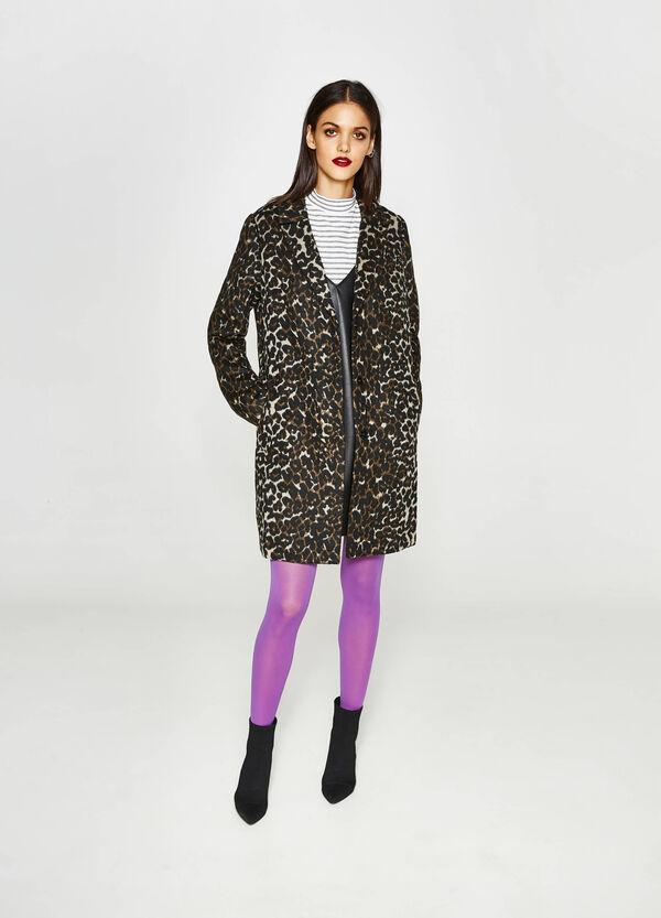 Mantel mit Revers Wildtiermuster | OVS
