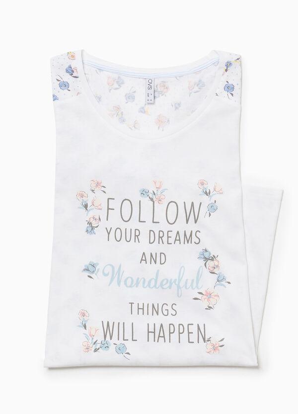 Nachthemd Baumwolle Blumen