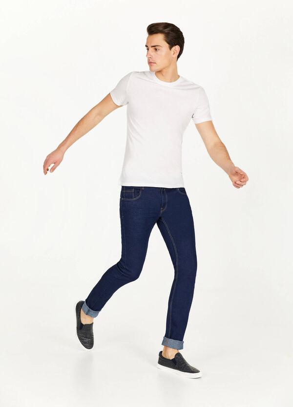 Einfarbige Stretch-Jeans Skinny Fit