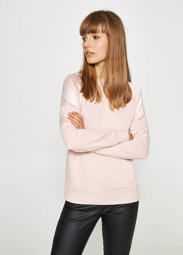 Sweatshirt aus reiner Baumwolle mit Einsätzen | OVS